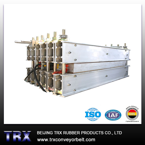 Electric conveyor belt vulcanizer
