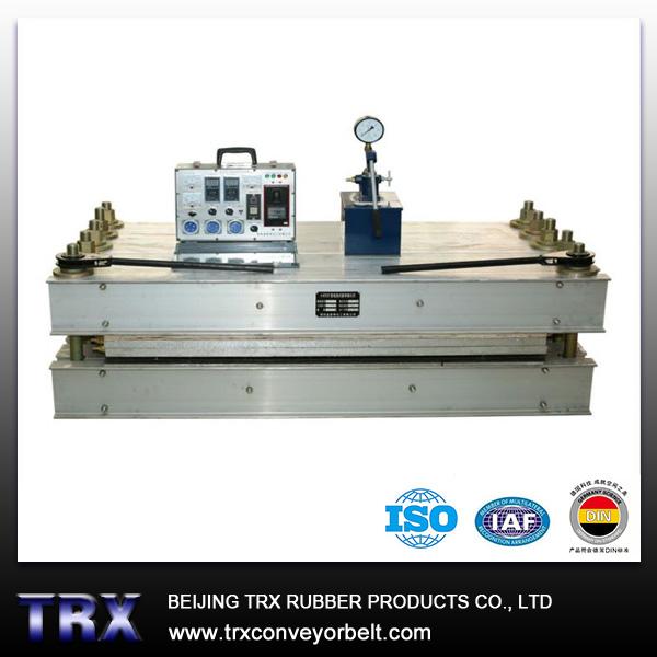 Water cooling conveyor belt vulcanizer