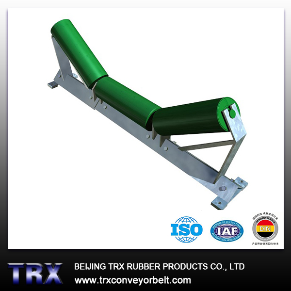 Conveyor belt idler roller set